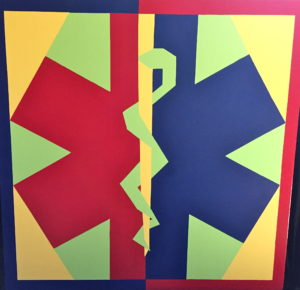 """Quilt 16 """"Star of Life"""""""