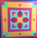 "Quilt 5 ""Morning Star with Tulips"""