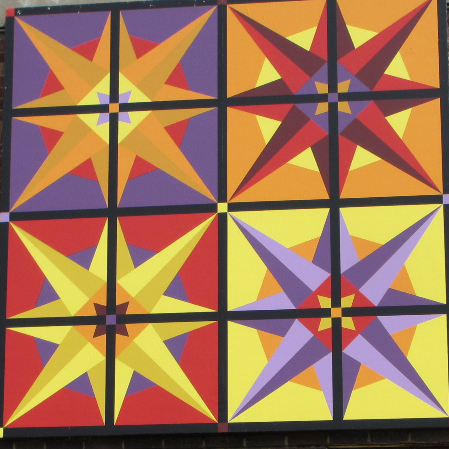 "Quilt 2 ""Window Pane Stars"""